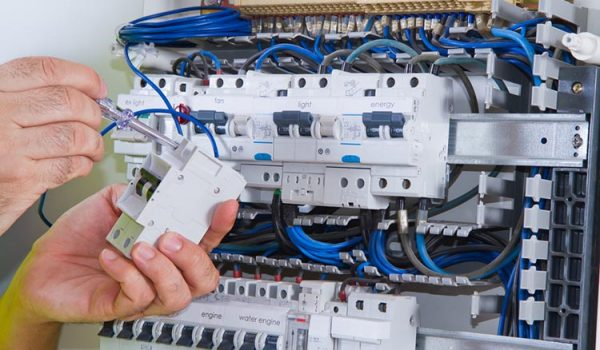 circuit breaker installation on electrical panel